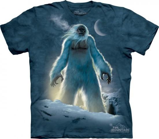 Yeti custom t-shirt tee design from the mountain