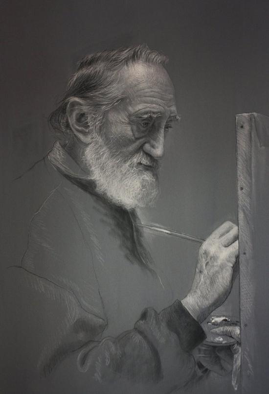 Brilliant photorealistic pastel portraits by Rubén Belloso Adorna
