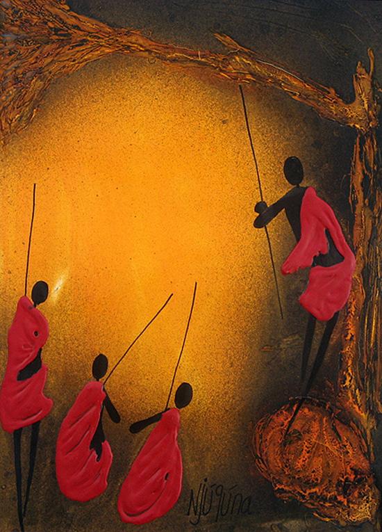 African art, paintings by Bernard Ndichu Njuguna