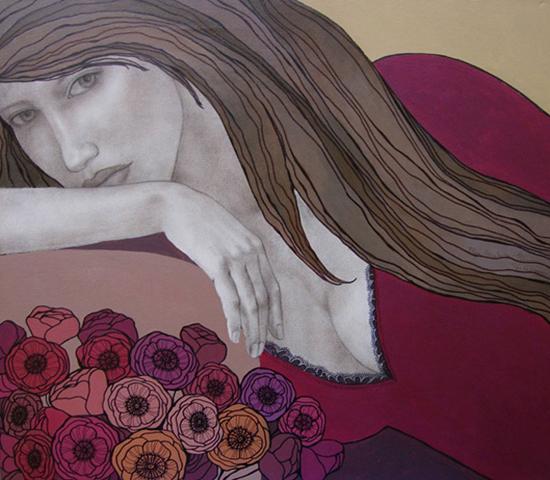 Contemporary representation of femininity and sensuality by Olga Gouskova