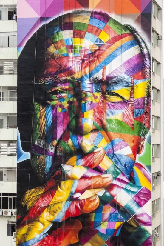 Eduardo Kobra, new mural in Sao Paulo, Brazil2