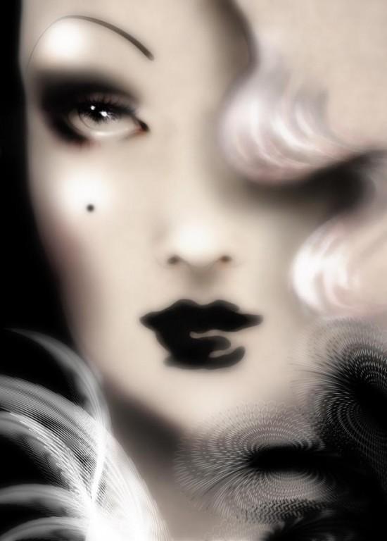Glamour and femininity, beauty illustration by Sabrina Garrasi