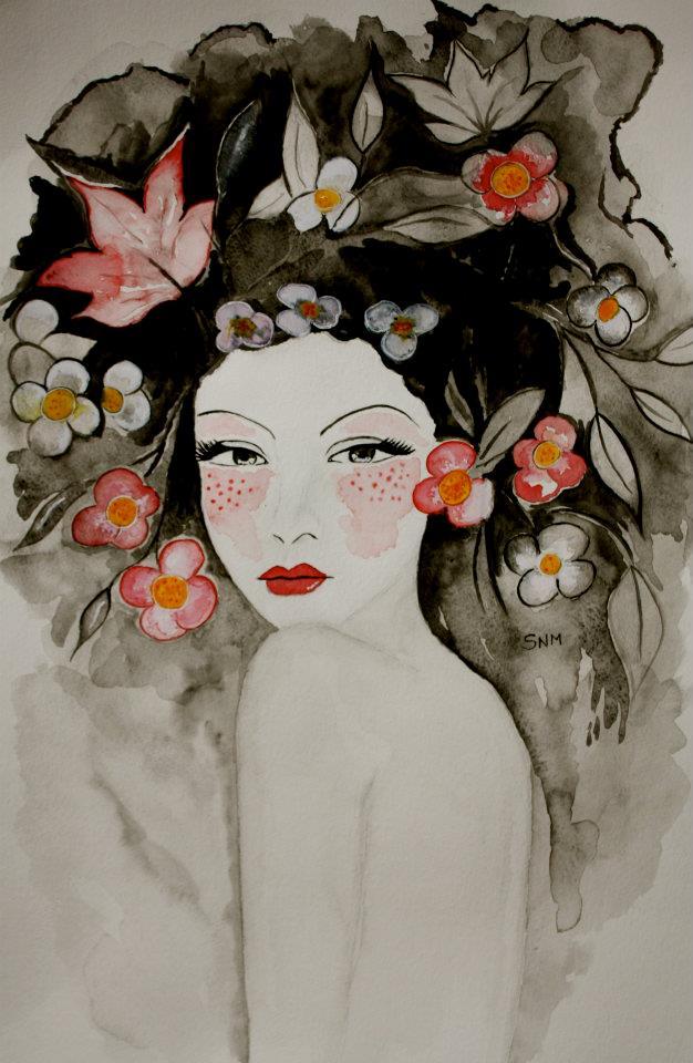 Paintings by Stephanie Noblet aka mademoiselle Zazie