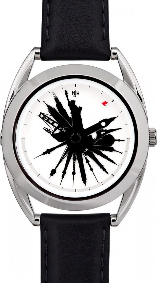 The Time Traveler by Mr Jones Watches - 24 Hour World Landmark Display