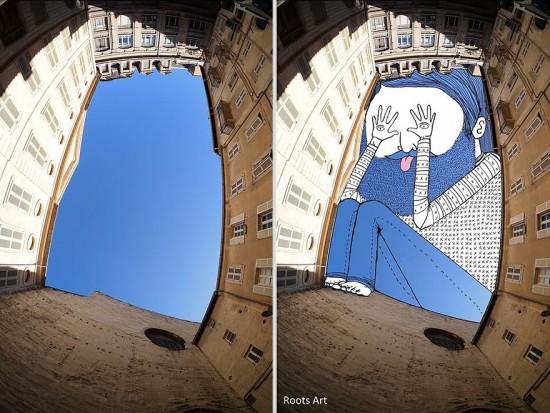 Whimsical sky art by Thomas Lamadieu