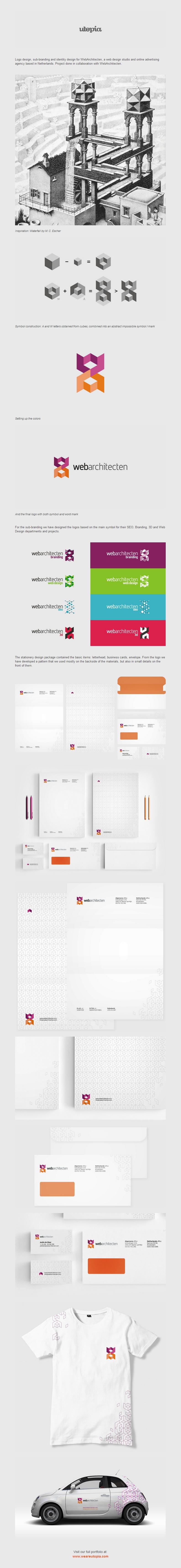 Web Architecten logo and corporate identity design by Utopia Branding Agency 2