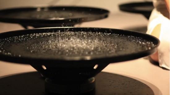 Artist Lisa Park manipulates water with her mind