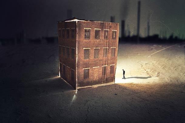 Imaginary towns series, digital art by Francesco Romoli