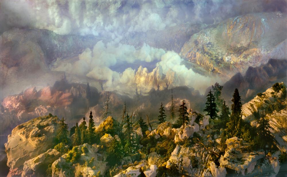 Spectacular atmosphere, paintings by Kim Keever