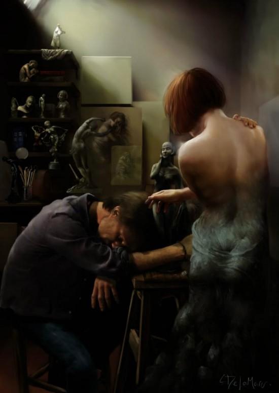 Steve Delamare, digital paintings