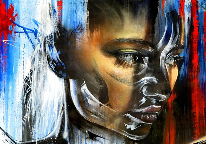 Street art by Matt Adnate