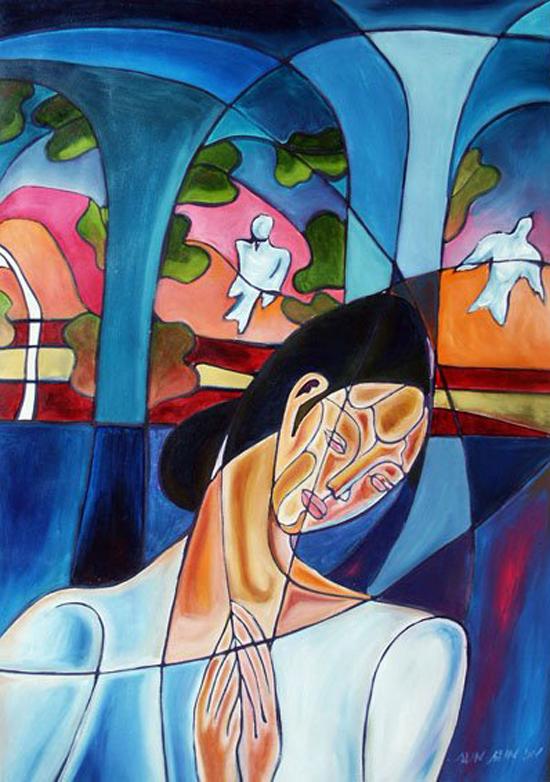 Sein Sein Lin, paintings