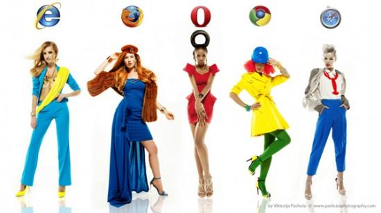 What if Girls Were Internet Browsers, project by Viktorija Pashuta