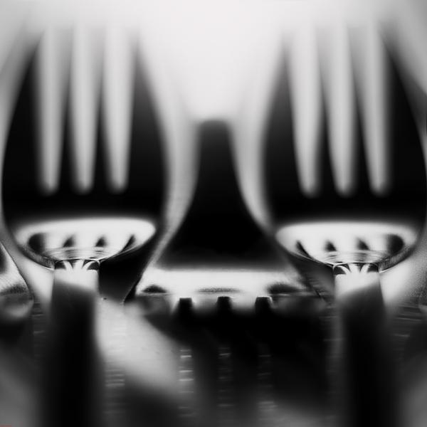 Fork - visual studies - object composition by Attila Kozó