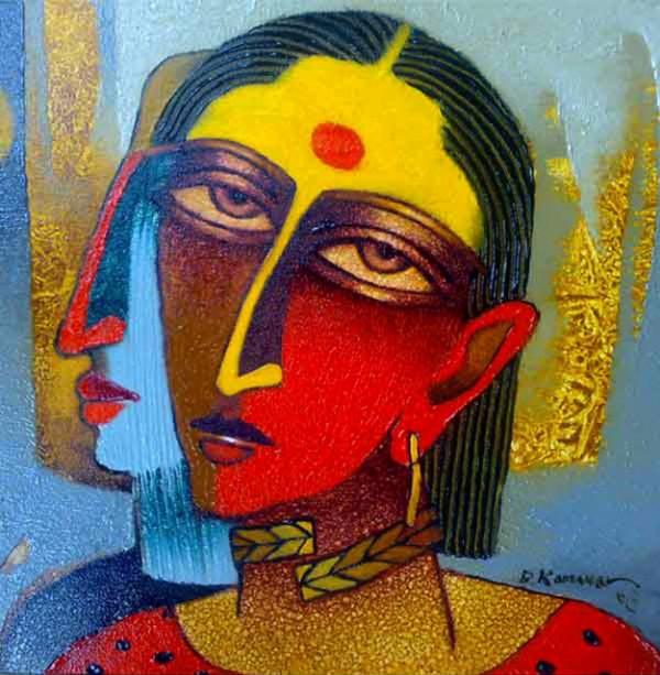 Woman series, paintings by Dayanand K. Kamakar