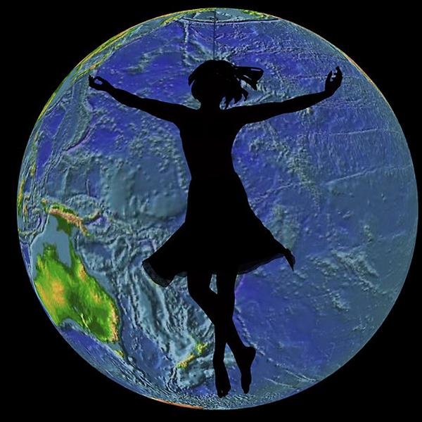 Celestial dancers, digital art by NamiKage