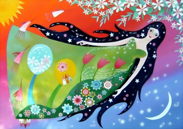 Colourful dreamlike world, paintings by Tiziana Rinaldi
