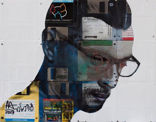 Nick Gentry, floppy disk paintings