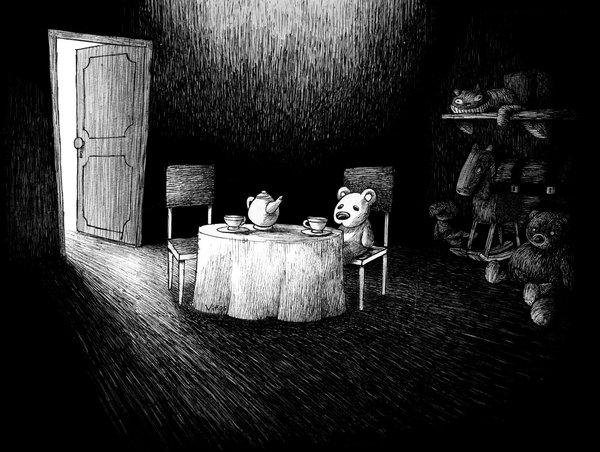 The Mirror, illustration by Gastón Viñas