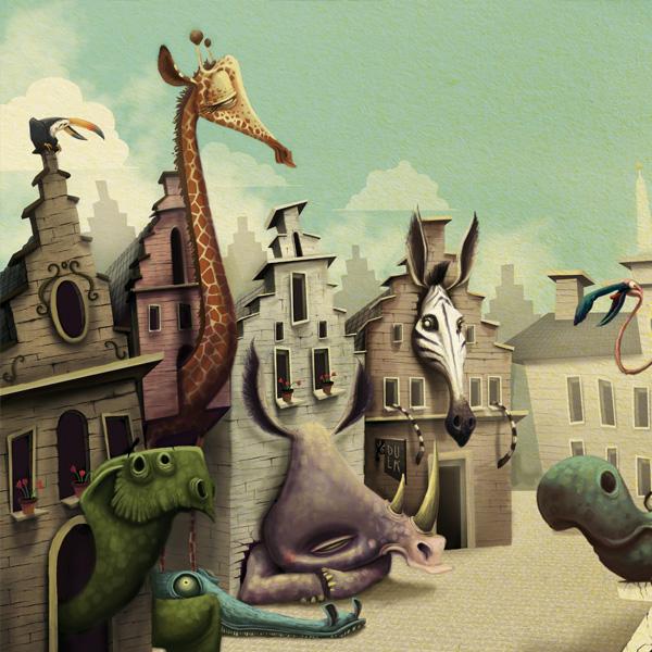 Antwerp zoo, illustration by Antonio Segura Donat (Dulk)
