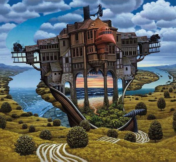 Dream worlds revealed on canvas by Jacek Yerka