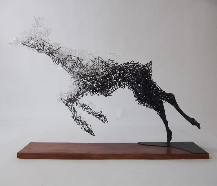 Surreal sculptures of disintegrating animals