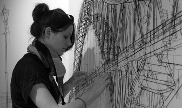 Threadbare: Drawings in Thread by Debbie Smyth