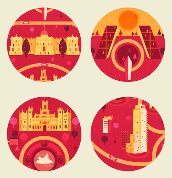 'Cosmopolis', set of illustrations by Aldo Crusher