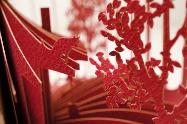 Cut paper books by Yusuke Oono