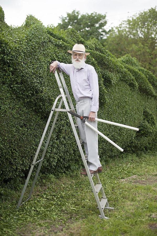 John Brooker spent 10 years turning 150-ft-long hedge into giant dragon