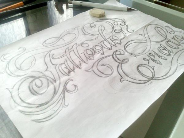 Lettering for the youtube channel, Tattoodo Errado by Sandro França