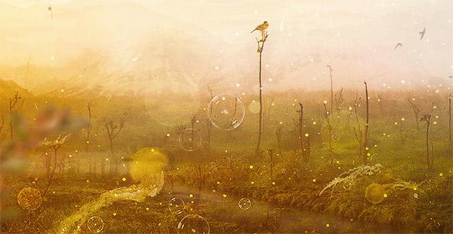 Internal Landscapes, surreal illustration by Mario Sánchez Nevado