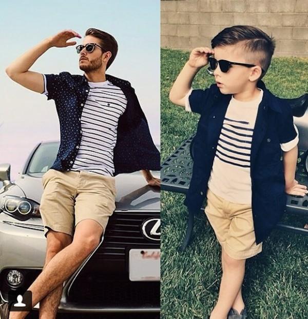 4-year-old boy amusingly imitates fashion models