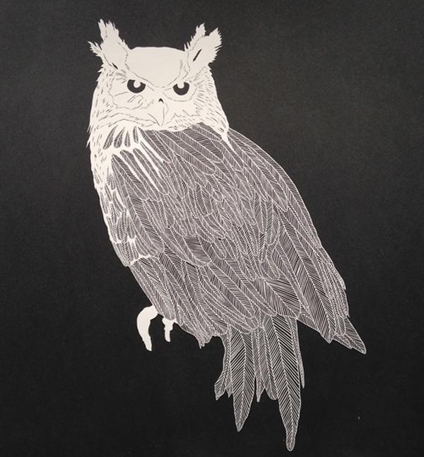 Amazing intricate hand-cut paper art By Maude White