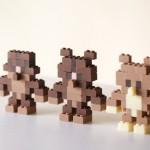 Edible Chocolate LEGOs by Akihiro Mizuuchi