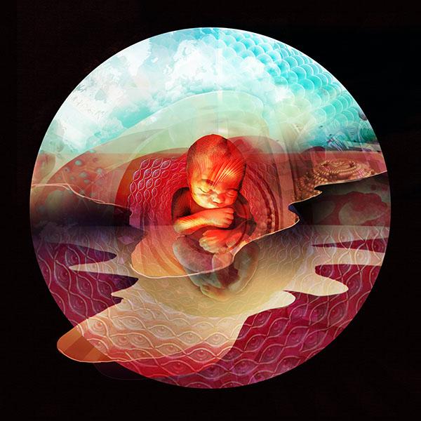 Dwarf in the Flask, digital art by Brian Pollett
