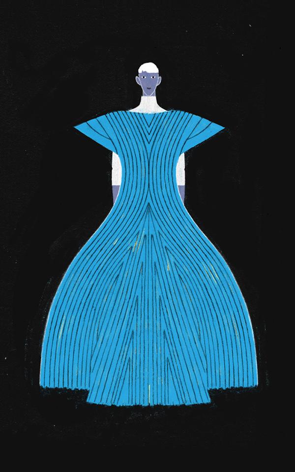 I Don't Like Clothes, fashion illustrations by Dadu Shin