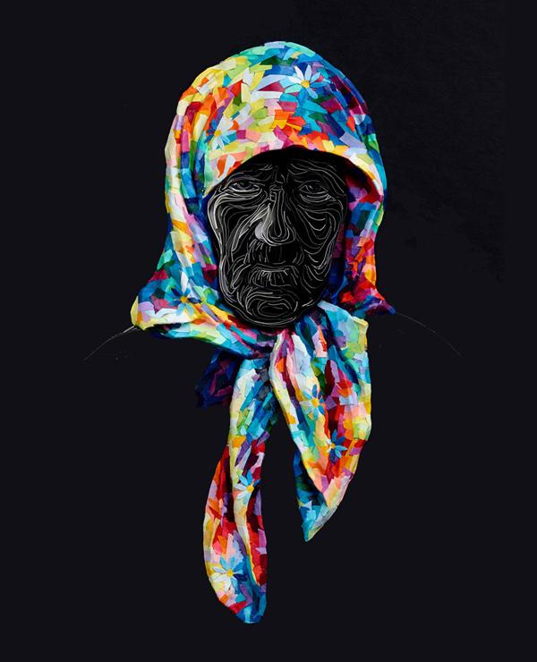 Lush, vibrant, three-dimensional paper art by Yulia Brodskaya