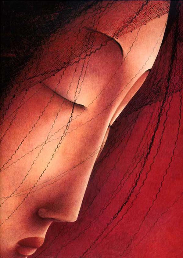 Rebecca Dautremer, illustration, Rébecca Dautremer, miniature, rouge, worlds of wonder, paper windows