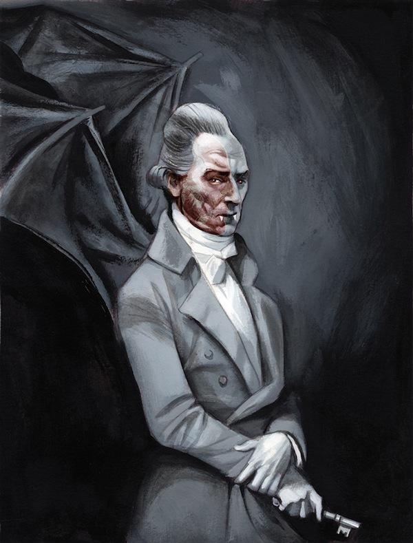 Drácula Bram Stoker, illustration by Fernando Vicente