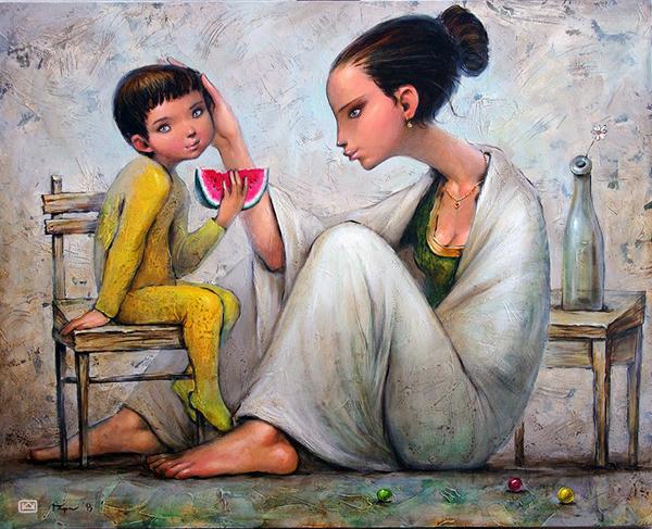 Gary-Nikolai Angelov, paintings