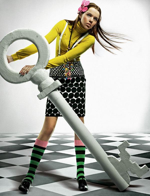 Alice, fashion editorial for the bulgarian magazine MAXIMUM