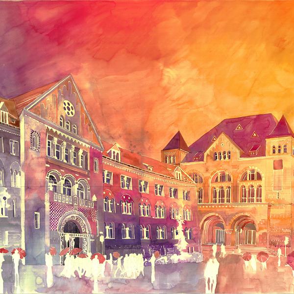 Amazing architectural watercolors by Maja Wronska