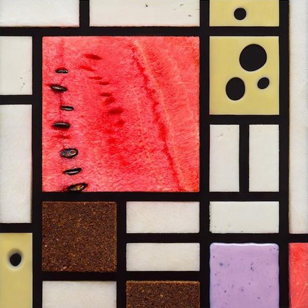 Famous paintings recreated with food by Tatiana Shkondina