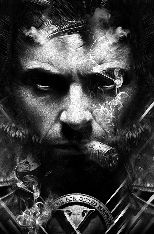 Fantasmagorik® Immortal Wolverine, digital art by Obery Nicolas