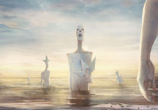 Paper Passengers, digital illustration by Davide Calluori