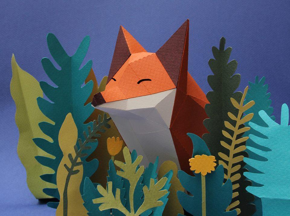 Paper mammals by Estudio Guardabosques