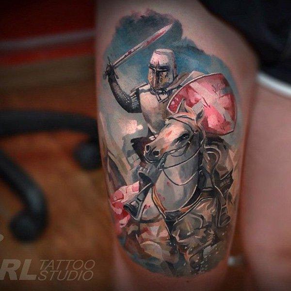 Fighting warrior tattoos