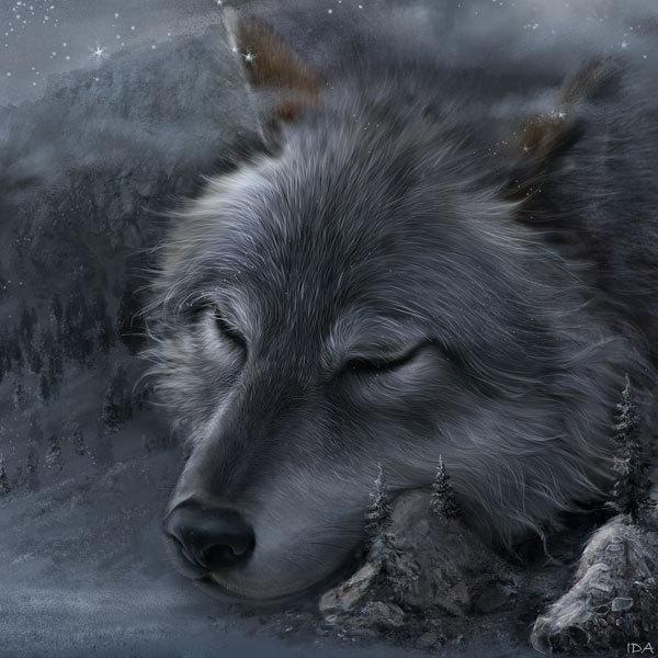 Legends of Tengry, digital art by Irina Druchinina