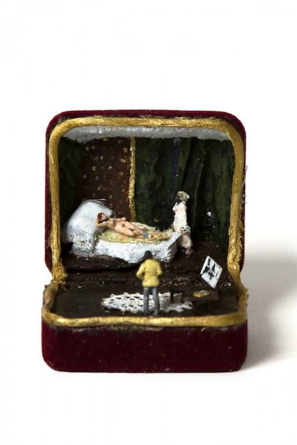 Little scenes in jewellery boxes by Talwst